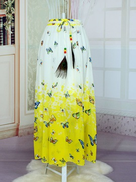 Color Block Floral Print Pleated Chiffon Dress