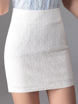 Chic Solid Color Mini Skirt