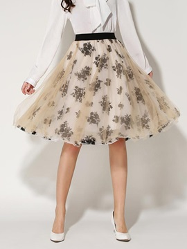 Chic Patchwork Print Expansion Mini Skirt