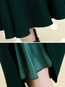 Solid Color Long  Winter Skirt