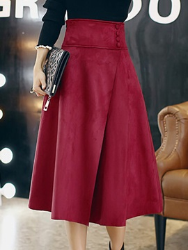 High Waits Buckle Pleated Velvet Skirt