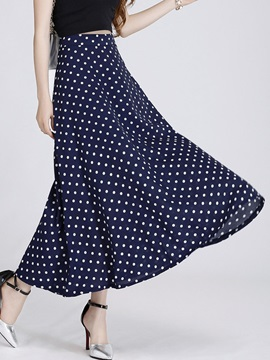 Polka Dots Printed Long Skirt