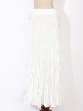 Sequin Pleated Solid Color Skirt