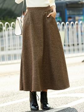 High Waisted Elegant Pure Color Expansion Women's Skirt
