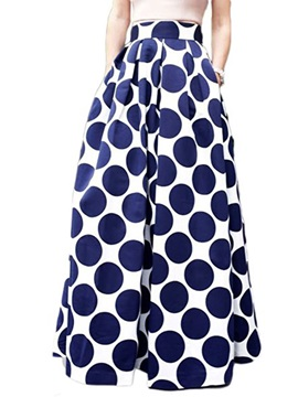 High Waisted Flower Print Women's Skirts