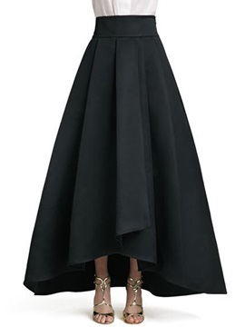 High Waisted Black European Women's Skirts