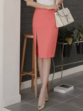Stylish High-Waist Cotton Bodycon Skirt