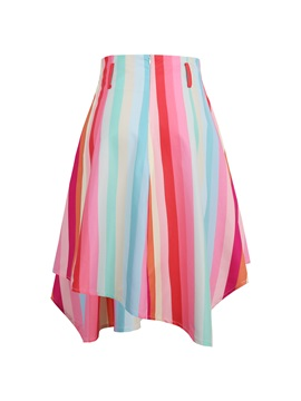 Contrast Color Stripe Women's Skirt