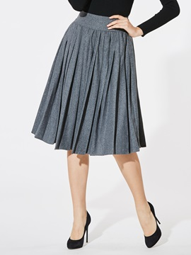Pleated Plaid High-Waist Women's Skirt