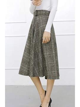 Plaid High-Waist Women's Skirt