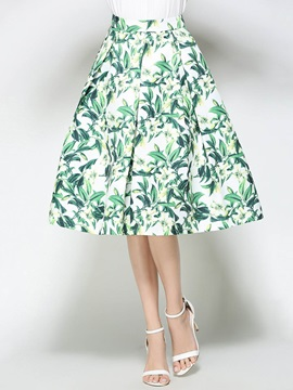 Floral Print Pleated Women's Skirt