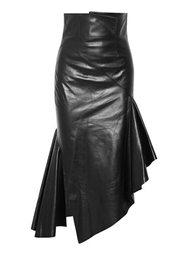 Asymmetrical High-Waist Women's Mermaid Skirt