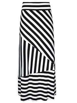 Stripe Bodycon Women's Long Skirt