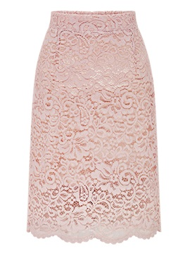 Lace Knee-Length Bodycon Women's Skirt