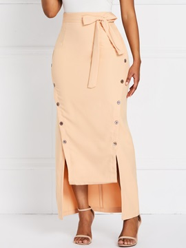 Ankle-Length Asymmetrical High Waist Split Women