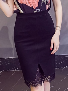 Bodycon Knee-Length Lace Office Lady Women's Skirt