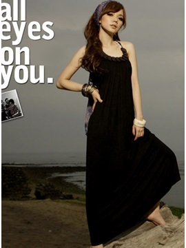 New Lovely Solid Color Long Dress