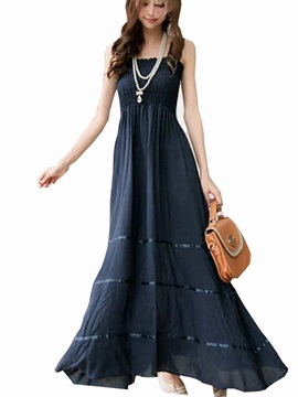 Stylish Square Neckine Long Maxi Dress