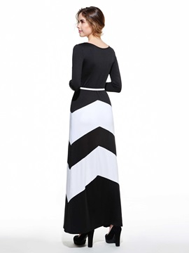 New European Stripe Women Dress