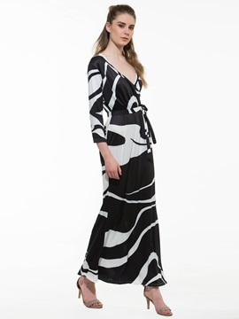 Gorgeous Zebra-stripe  Dress with Belt