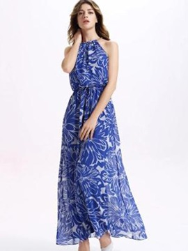 Sisjuly® Floral Print Hollow  Dress