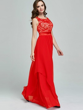 Red Sleeveless Women's Maxi Dress