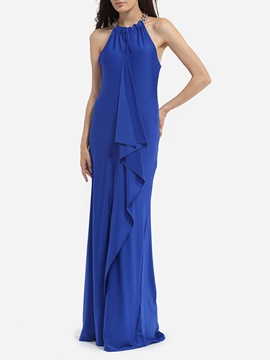 Chic Pure Color Sleeveless Women's Maxi Dress