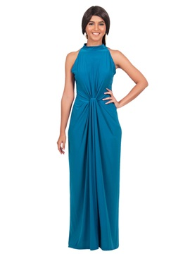 Multi-colored Sleeveless Women's Maxi Dress