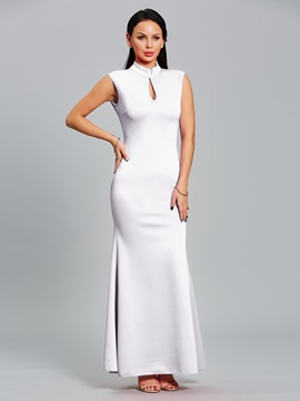Hot Pure Color Sleeveless Women's Maxi Dress