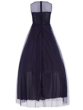 Vogue Embroidery Crystal Sleeveless Women's Maxi Dress
