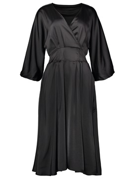 V Neck Long Sleeves Winter Fall Women's Maxi Dress