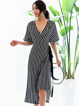 Tidebuy Straps V Neck Long Women's Maxi Dress