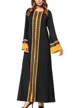 Tidebuy Ethic Long Sleeves Long Maxi Dress
