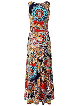 Tidebuy Pullover A-Line V-neck Women's Maxi Dress