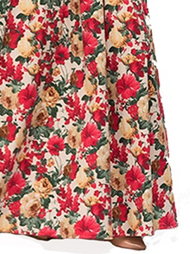 Tidebuy Floral Cap Sleeves Women's Dress