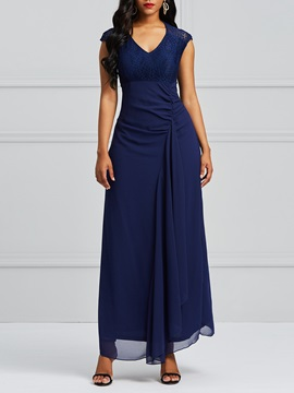 Tidebuy Sleeveless V Neck Elegant Women's Maxi Dress