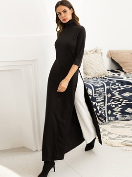 Color Block Elegant Women's Maxi Dress