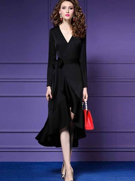 Elegant Ladylike Fall Women's Maxi Dress
