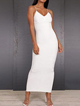 Ankle-Length Sleeveless Backless Bodycon Women's Maxi Dress