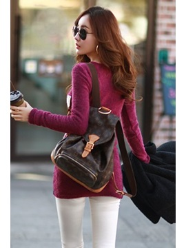 Contrast Color Long Sleeve Women's Bodycon Dress