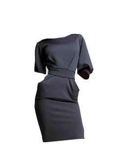 Chic Half Sleeve Lace-Up Women's Bodycon Dress
