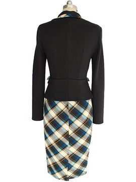 Plaid Two in One Bodycon Dress