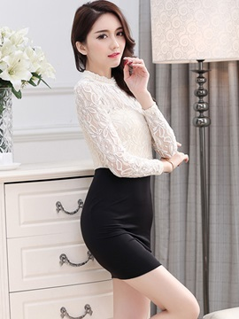 Long Sleeve Double-Layer Bodycon Dress