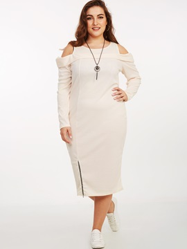 Off-the-Shoulder Hollow Patchwork Bodycon Dress