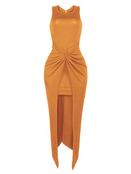 Sexy Solid Color Sleeveless Bodycon Dress