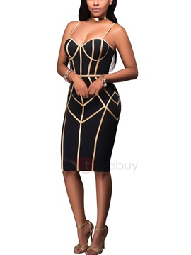 Spaghetti Straps Bodycon Women's Dress