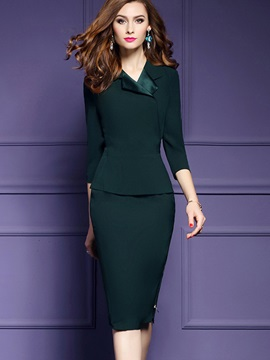 Plain Long Sleeve Women's Bodycon Dress