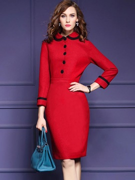 Vogue Multi-colored Long Sleeve Bodycon Dress