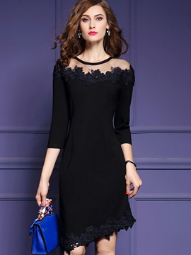 Classy Black Long Sleeve Women's Bodycon Dress