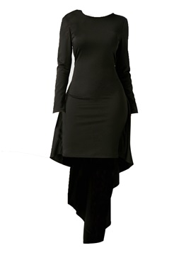 Tidebuy Long Sleeve Round Neck Women's Bodycon Dress